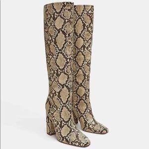 ZARA Snake Boots